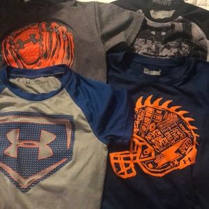 Under Armour boys shirts size5 all for one price